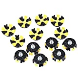 New Moo 16pcs Spike Cleats Golf Cleats Shoes Spikes Stinger Metal Thread Screw Studs Black