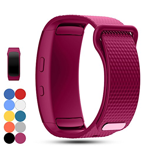 Feskio Samsung Gear Fit 2 Pro/Fit 2 SM-R360 Replacement Watch Band Strap Accessory Soft Silicone Wristband Strap Sport Band Bracelet for Samsung Gear Fit 2 Pro/SM-R360 Smartwatch