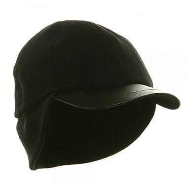 baseball cap ear warmer crochet pattern free for men wool flap black large