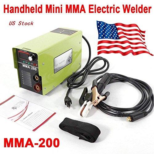 Arc Welder, 110V MMA-200 Welding Machine 120AMP 4.7KVA Handheld Mini Welder Inverter Electric Welders Accessories Tool ARC Machine Solder for Novice Welders Fits 3.2mm Weling Rods Electric Welders