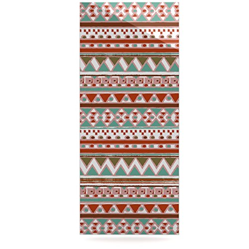 24 x 36 Kess InHouse Nika Martinez Boho Mallorca Red Multicolor Luxe Rectangle Panel