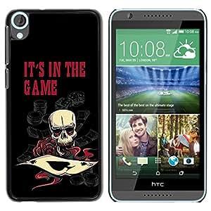 PC/Aluminum Funda Carcasa protectora para HTC Desire 820 It's In The Game Casino Poker Skull / JUSTGO PHONE PROTECTOR