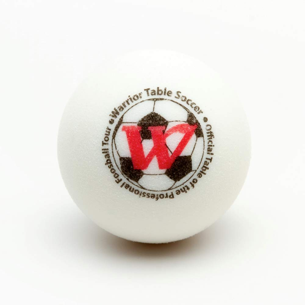Warrior Table Soccer Foosball Table Replacement Foosballs - Official Tournament Game Ball- Tabletop Soccer Balls (8, White) by Warrior Table Soccer