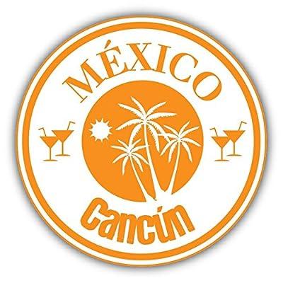 Cancun Mexico Travel Stamp Sticker Decal Design 5'' X 5''
