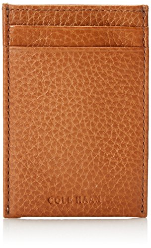 Haan Men's British Clip Holder Tan Leather Card Cole with Pebbled Money FOwdnOq