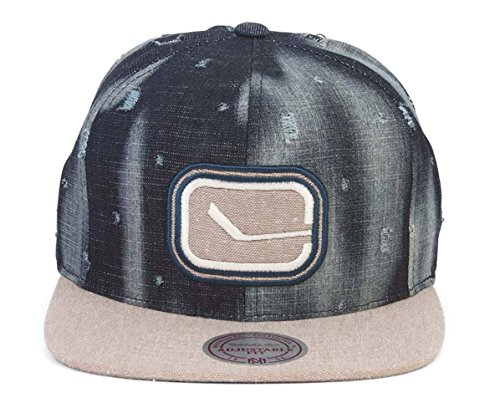 1fc9416595f Mitchell   Ness Vancouver Canucks Torn Denim Snapback