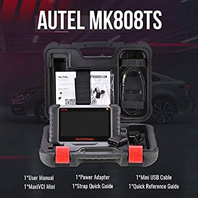 Autel MaxiCOM MK808TS TPMS Scanner with Complete TPMS and Sensor Programming, Diagnosis for All Systems and Combination of Service Functions , Same as MK808/MX808/MK808BT+TS608(upgraded TS601 orTS508): Automotive