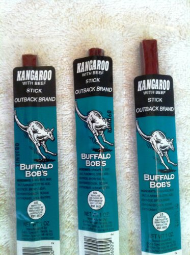 Wild Game Beef Jerky- Kangaroo Outback Stick 3 Pack