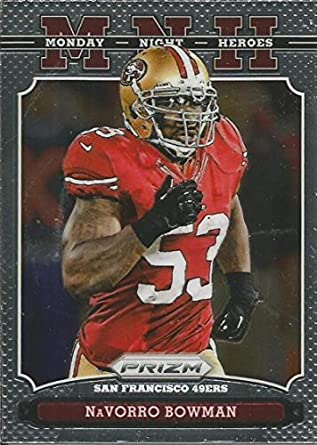 amazon com 2013 prizm monday night heroes 17 navorro bowman nm mt rh amazon com