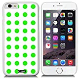 CocoZ® New Apple iPhone 6 s 4.7-inch Case Beautiful mint green Polka Dot pattern PC Material Case (White PC & Polka Dot 25)