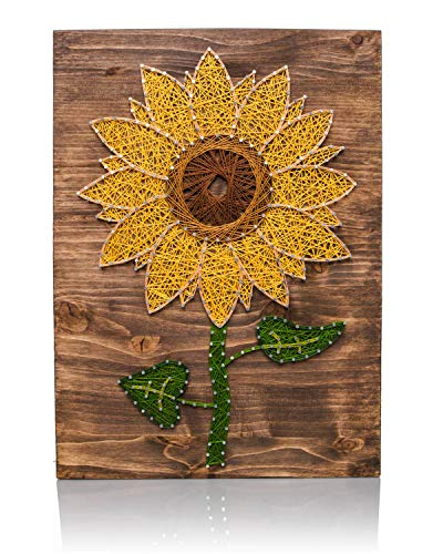 Sunflower Kit (String Art Kit - Sunflower String Art, Arts and Crafts Kit, Adult Crafts, Crafts Kit, DIY Kit, Sunflower Decor, Kits for Adults, String Art Patterns, Crafting Kits, all supplies included)