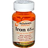 Sundown Naturals Iron 65 mg Tablets 120 Tablets (Pack of 3)