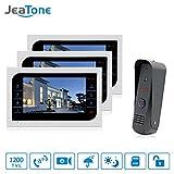 JeaTone 10 Inch Monior Color Video Door Phone Intercom System Night Vision Waterproof Camera 32GB SD Card Video Record …