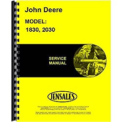 New Service Manual For John Deere 2030 Tractor