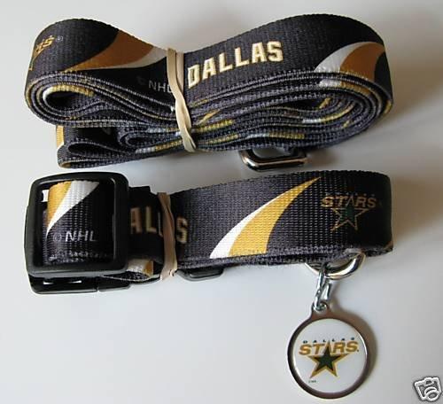 Hunter Dallas Stars Pet Combo (Includes Collar, Lead, ID Tag), X-Small