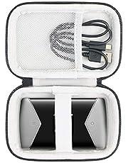 khanka Hart Tasche für TP-Link M7450 M7650 mobiler WLAN Router WiFi Hotspot Schutzhülle Case. (Passt für M7450/ M7650, Schwarz)