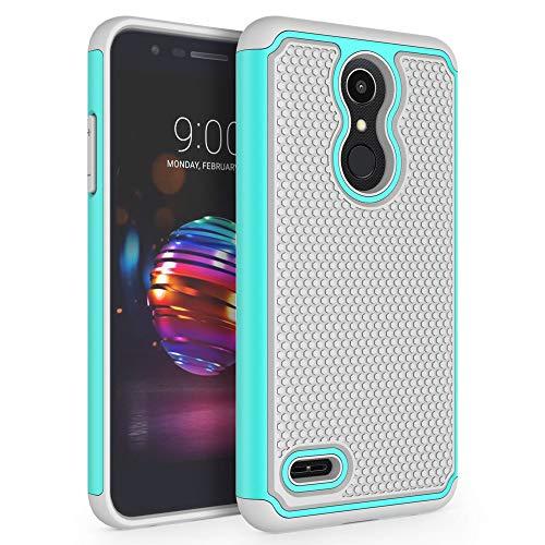 (Case for LG K10 2018 / LG K30 / LG Premier Pro LTE/LG K10 Alpha/LG Harmony 2 / LG Phoenix Plus, SYONER [Shockproof] Defender Protective Phone Case Cover [Turquoise/Gray])