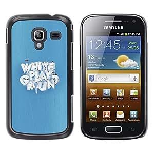 Be Good Phone Accessory // Dura Cáscara cubierta Protectora Caso Carcasa Funda de Protección para Samsung Galaxy Ace 2 I8160 Ace II X S7560M // White Playground