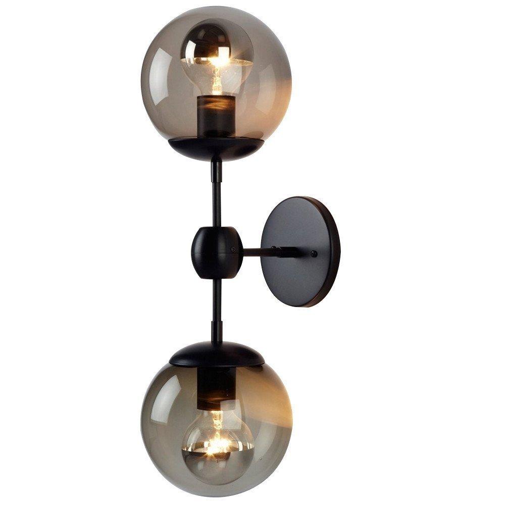 E27 Eisen Wandleuchte Retro Verstellbar Wandleuchten Kreativ Industrial Wandlampe Innen Beleuchtung Wohnzimmer Schlafzimmer Esszimmer Aisle Korridor Bettseite 13×40cm 2 Flamme