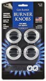 Stanco 4 Pack Universal Gas Range Stove Knobs, Black