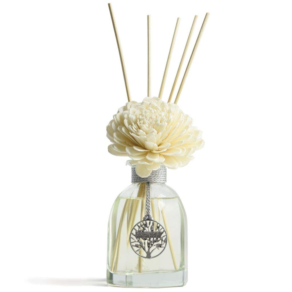 Aronica Octagon Flower and Reed Diffuser 4.4oz/130 ml (White Rose) by Aronica