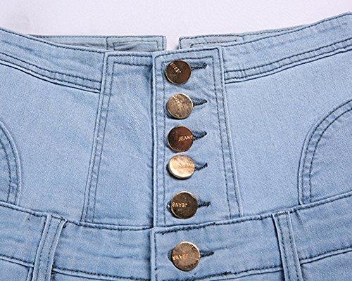 Collant Leggings Slim Jeans Haute ZiXing Bleu Taille Pantalons Denim 1 Crayon Dchirs Femme Printemps FwFA8Tzq