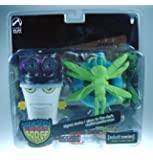Adult Swim Action Figure 2Pack Exclusive Master Shake and Glow in the Dark Moth Man Monster