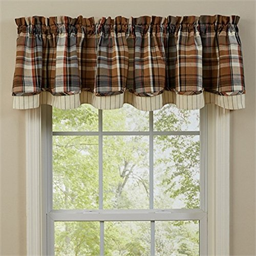 Park Design 72 Inches x 16 Inches Roaring Thunder Lined Layered Valance Window Treatment (Thunder Roaring)