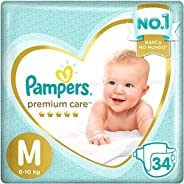 Fraldas Pampers Premium Care M 34 Unidades, Pampers