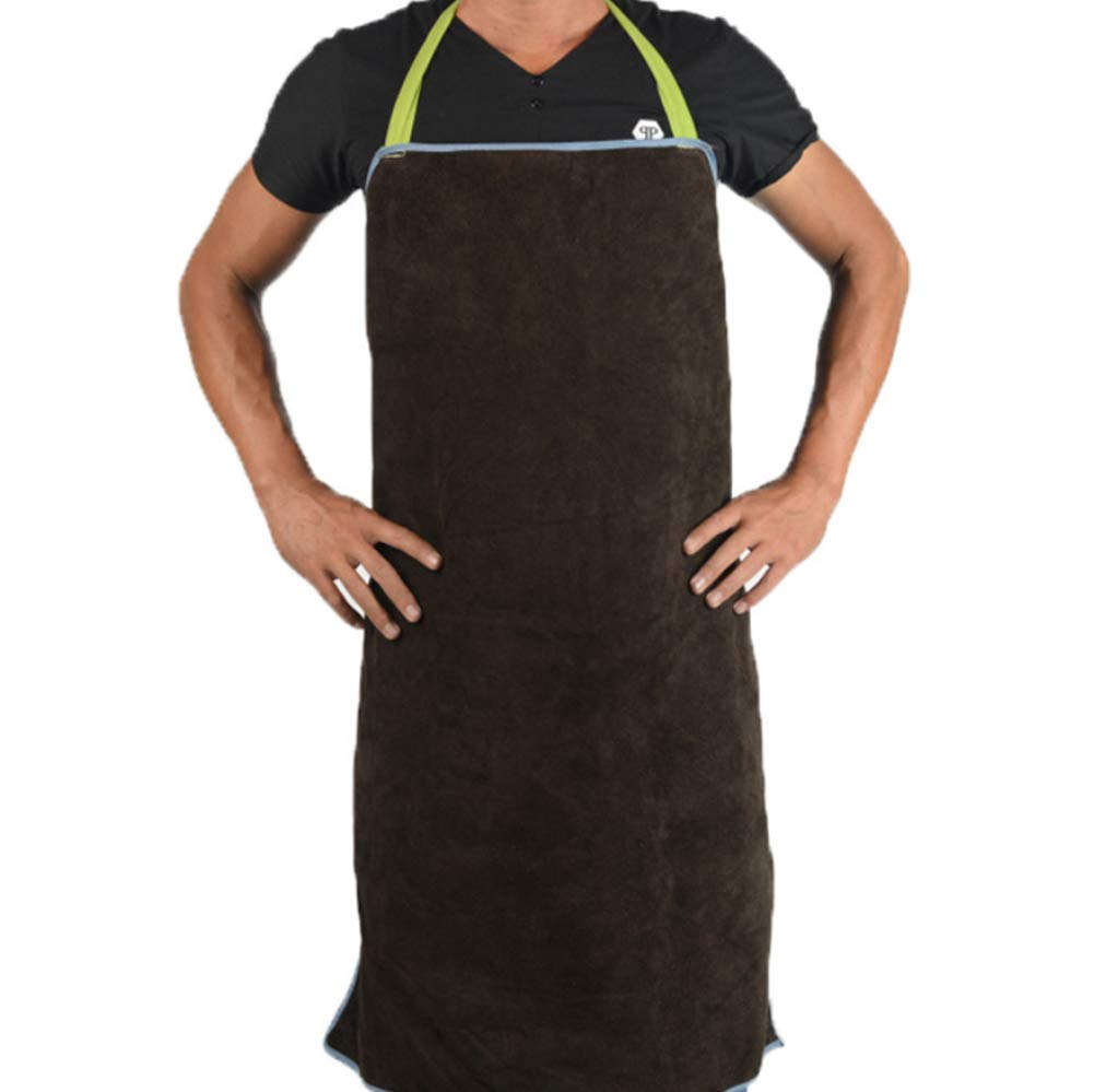 WQHJM Welding Apron Work Leather Vintage Crafts Canvas Tool Chef Bib Grade Chef for Kitchen, BBQ, and Grill