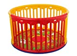 Dream On Me Circular Playard, Red/Yellow For Sale