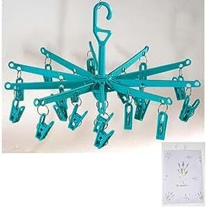 Viva-artículos de uso doméstico Kleine tendedero/tendedero para calcetines, lencería, etc, diámetro x 39 cm x 29 cm (color según disponibilidad) incluye aroma bolsa