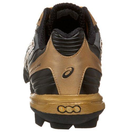 Asics Mens Domaine Pro Gel Hockey Chaussure Noir / Or / Tempête