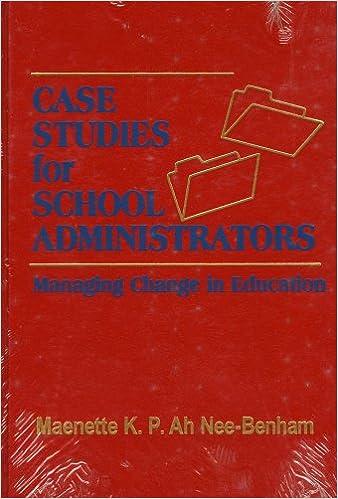 Book Case Studies for School Administrators: Managing Change in Education