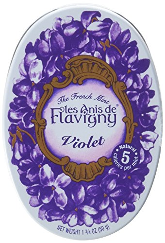 Anise Candy Recipe - Abbaye de Flavigny Oval Traditional Tin Violet Flavored Anise drops all natural, 1.8 oz, One