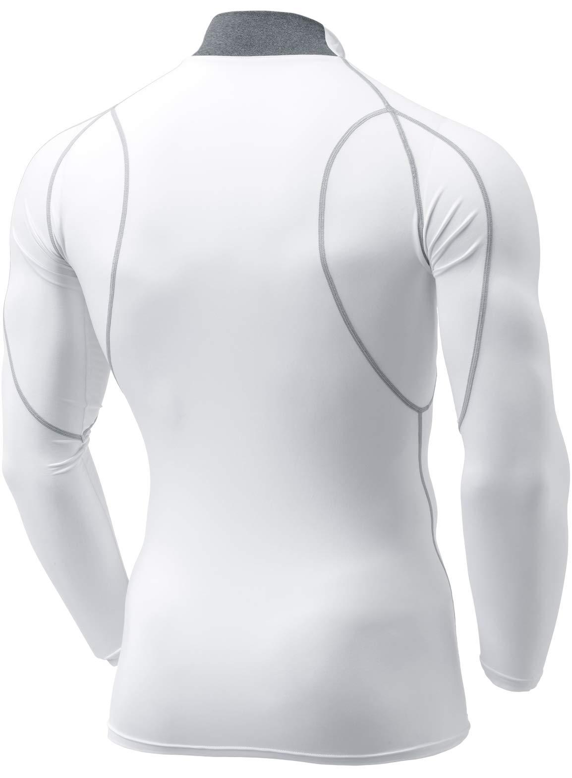 f9e994d100 Tesla TM-MUT12-WHT Medium Men s Mock Long-Sleeved T-Shirt Cool Dry  Compression Baselayer MUT12 - US17091 TMMUT12WHT L   Men   Sports    Outdoors - tibs