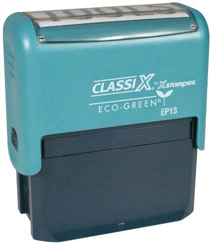 Xstamper Classix P13 ECO GREEN Self-Inking Plastic 4 line Business address Stamp (Stamps Xstamper Classix Custom Address)