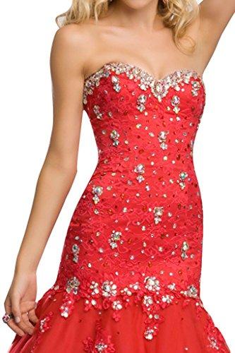 Spitze Stil amp;Tuell Damen Ivydressing Steine Abendkleider Promkleid Rot Meerjungfrau Festkleid wqUR1InR4W
