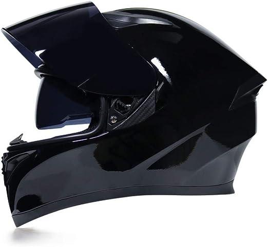 Flip up Front Motorcycle Bluetooth Helmet Crash Modular Motorbike Helmet Full Face Motorbike Helmet Full Face Racing Motorcycle Helmet DOT//ECE Approved for Men Wome