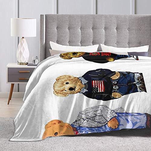"""Eppedtul Bro Polo Bear Ultra-Soft Micro Fleece Blanket Couch 80"""""""" X60"""