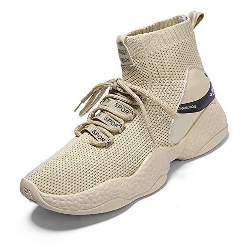Liuxc Baskets Chaussures pour Hommes d'automne, Chaussures pour Hommes de Haut vol, Maille Respirante, Chaussures de Sport, Chaussures de Sport, Confortables et décontractées