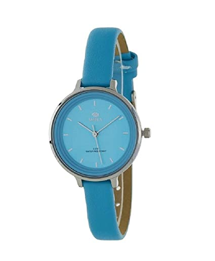 Marea B41227/6, Reloj de mujer Marea con correa de piel azul: Amazon.es: Relojes