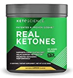 Keto Science Real Ketones Powder Dietary Supplement, Sugar-Free Lemon Drink Mix, Supports Carb-Fighting Diet and Weight Loss, 5.3 oz. (15 Servings)