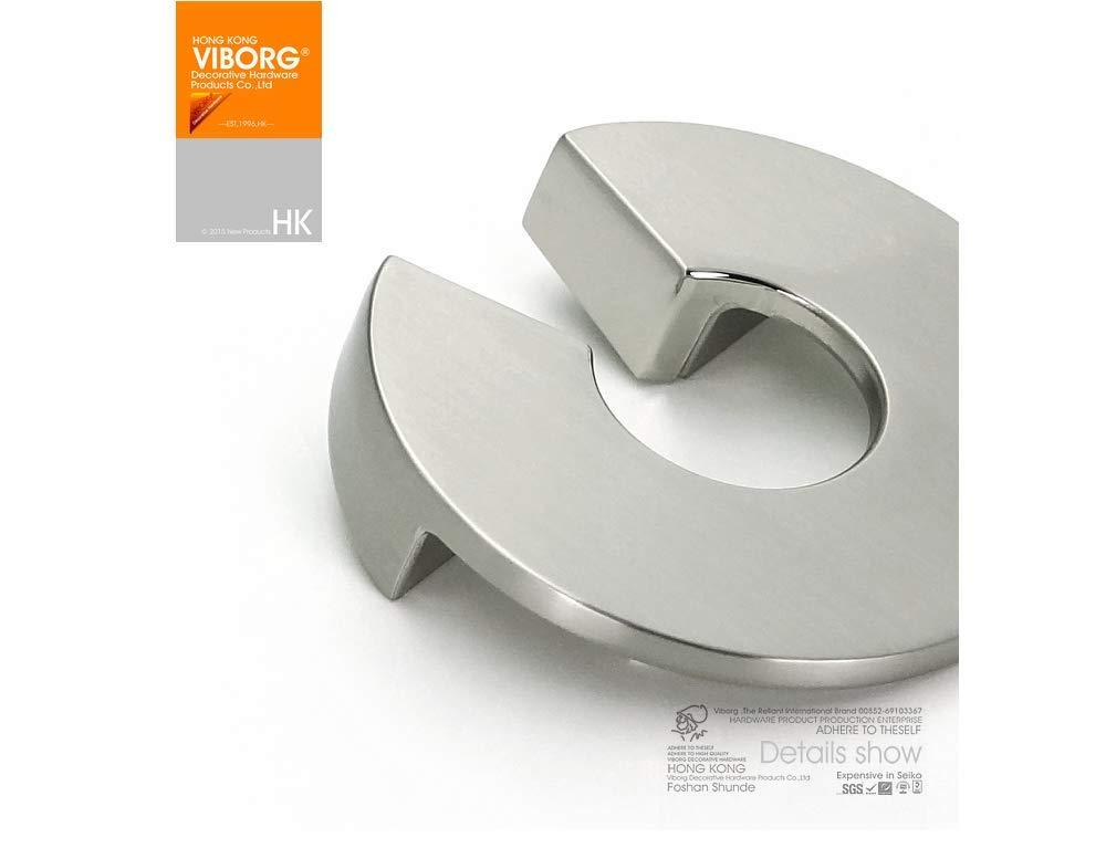 5 piezas Viborg Top calidad aleaci/ón de zinc moderno armario de cocina armario puerta caj/ón tiradores pomos n/íquel cepillado SA-670-SM