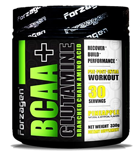 Forzagen BCAA + Glutamine Branched Chain Amino Acid Pre-Post-Intra Workout (330 g, Pineapple)