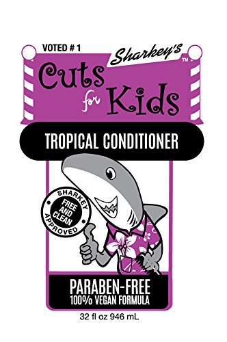 Sharkey's FREE & CLEAN Line Just for Kids, Curl Enhancing Conditioner, PARABEN-FREE, Large, 32oz by Sharkey's Products (Image #2)