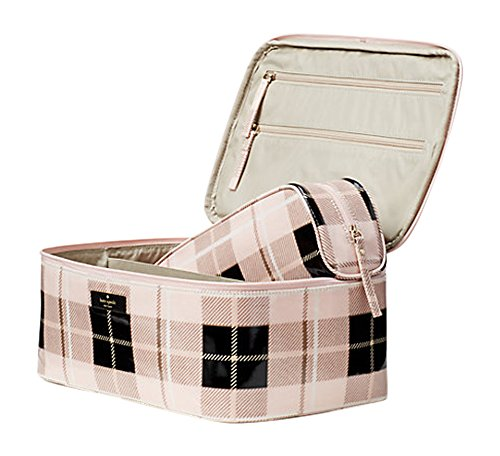 Kate Spade New York Daycation Large Colin Cosmetic Make Up Travel Case Plaid Pink by Kate Spade New York