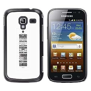Be Good Phone Accessory // Dura Cáscara cubierta Protectora Caso Carcasa Funda de Protección para Samsung Galaxy Ace 2 I8160 Ace II X S7560M // motivational poster calligraphy inspir