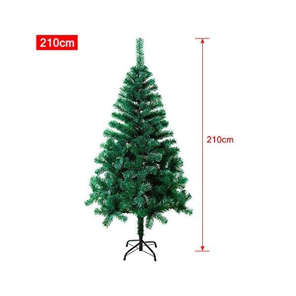 Mctech, albero di Natale artificiale, colore: verde, PVC, 210cm 2 spesavip