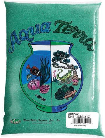 Nature's Ocean Aqua Terra Green Sand 5 lb Bag, Natural Aquarium Sand ()